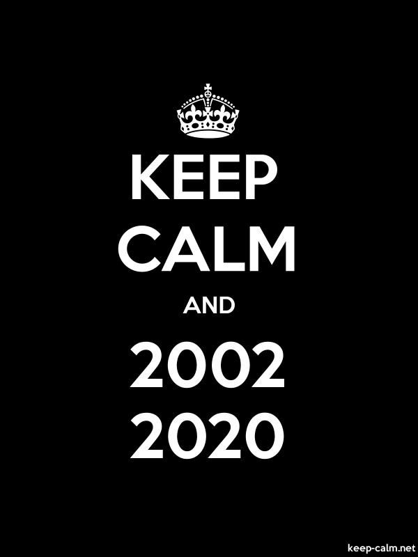 KEEP CALM AND 2002 2020 - white/black - Default (600x800)