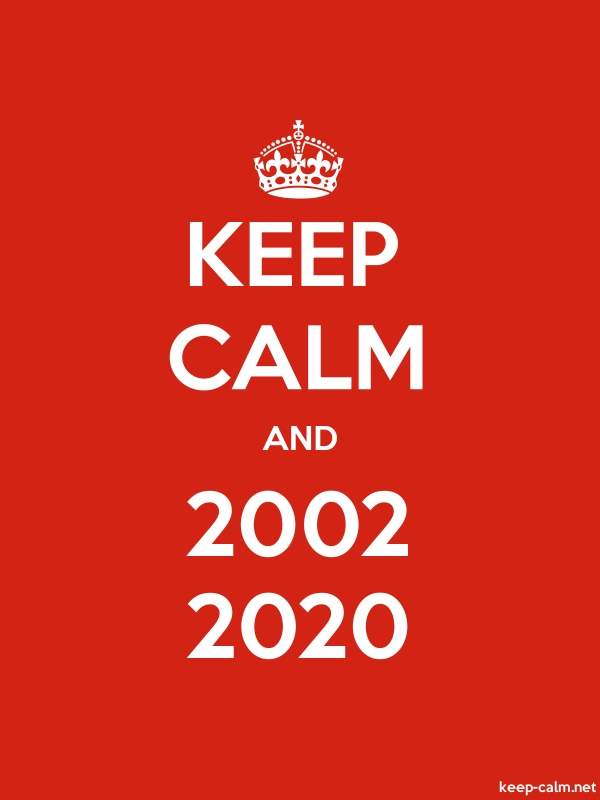 KEEP CALM AND 2002 2020 - white/red - Default (600x800)