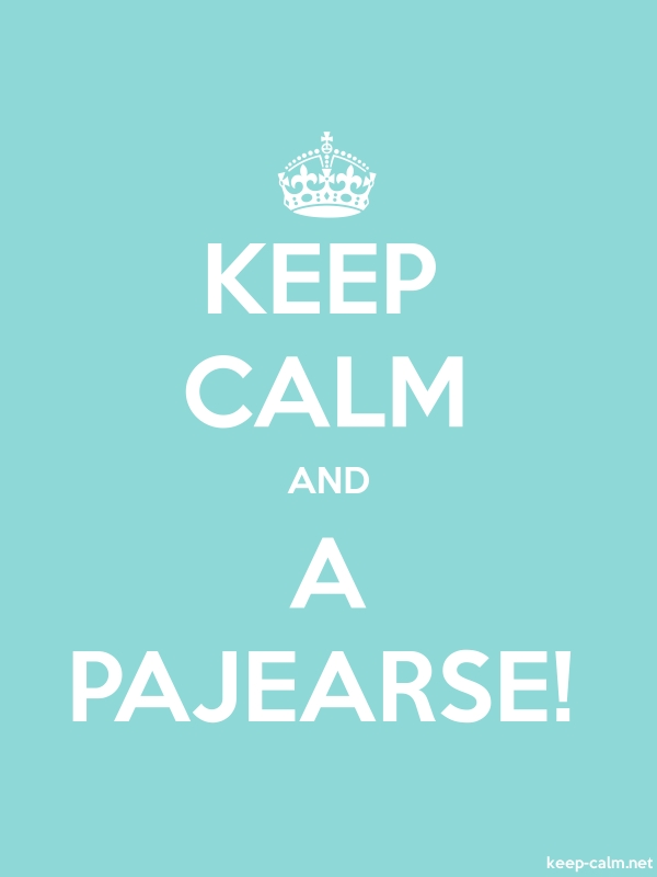 KEEP CALM AND A PAJEARSE! - white/lightblue - Default (600x800)