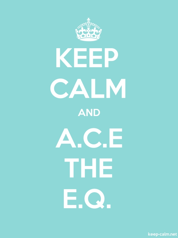 KEEP CALM AND A.C.E THE E.Q. - white/lightblue - Default (600x800)