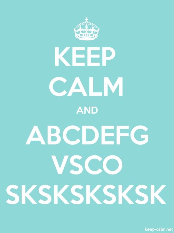 KEEP CALM AND ABCDEFG VSCO SKSKSKSKSK - white/lightblue - Default (600x800)
