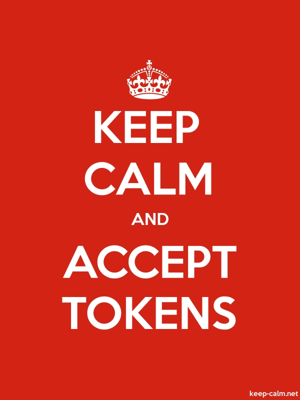 KEEP CALM AND ACCEPT TOKENS - white/red - Default (600x800)