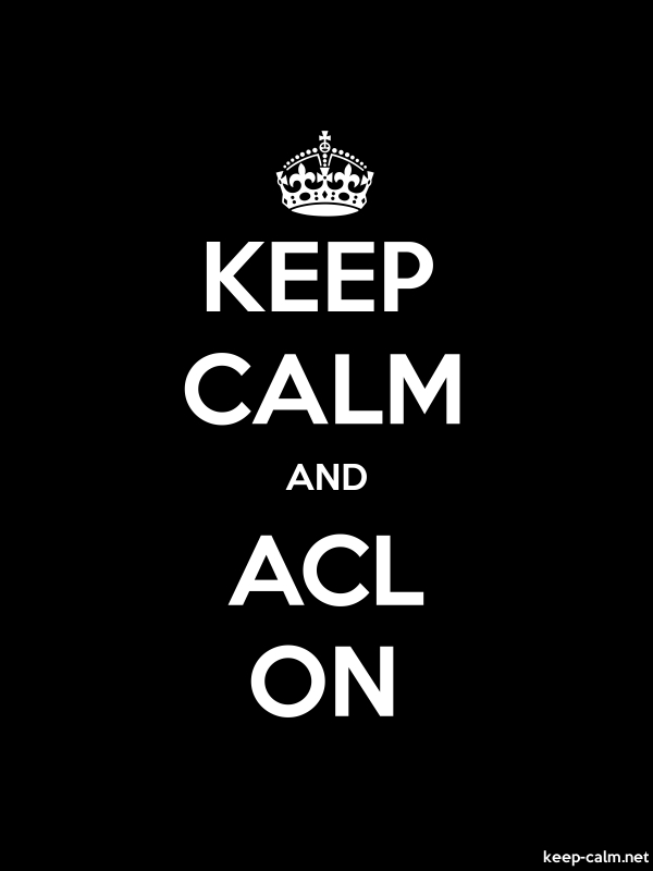 KEEP CALM AND ACL ON - white/black - Default (600x800)