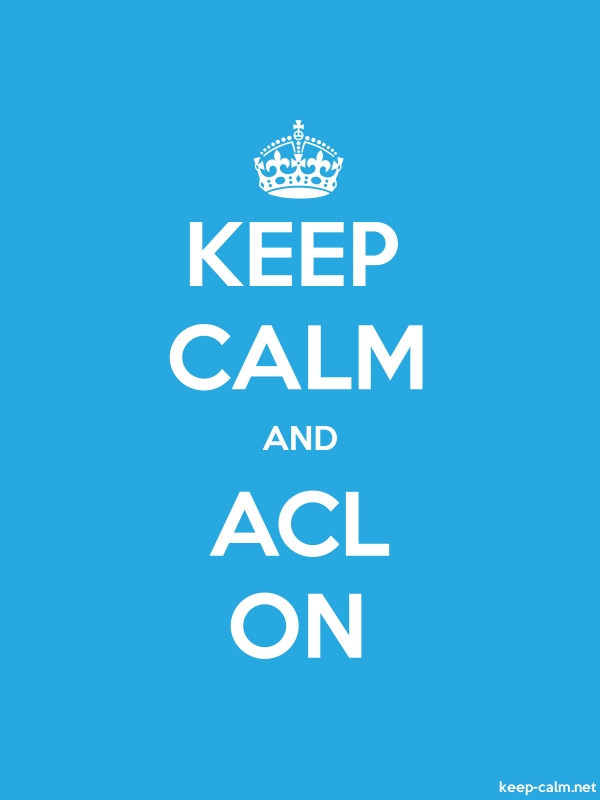 KEEP CALM AND ACL ON - white/blue - Default (600x800)