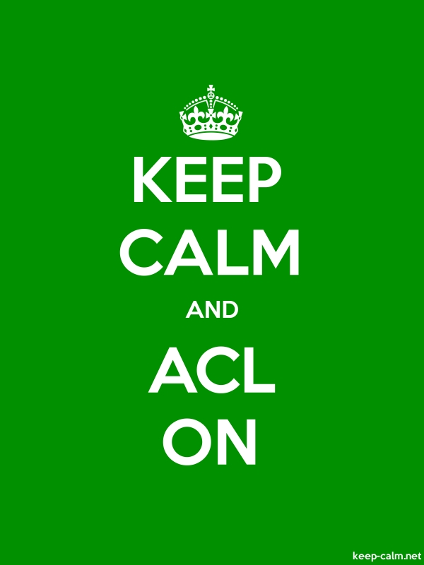 KEEP CALM AND ACL ON - white/green - Default (600x800)