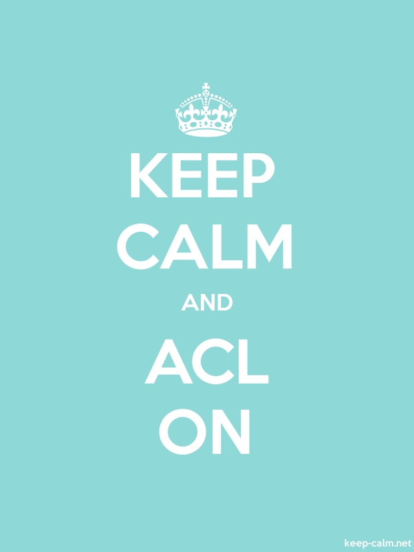 KEEP CALM AND ACL ON - white/lightblue - Default (600x800)