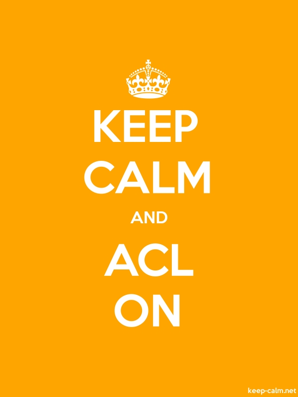 KEEP CALM AND ACL ON - white/orange - Default (600x800)