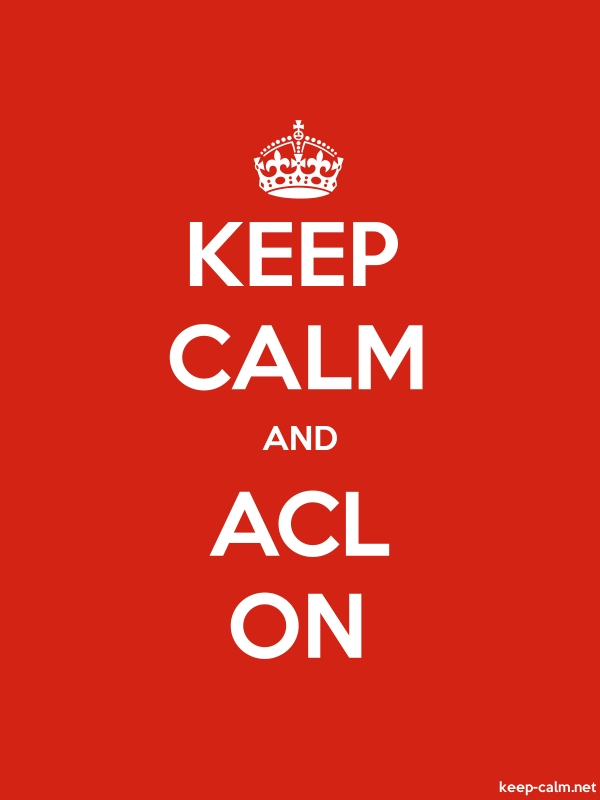 KEEP CALM AND ACL ON - white/red - Default (600x800)