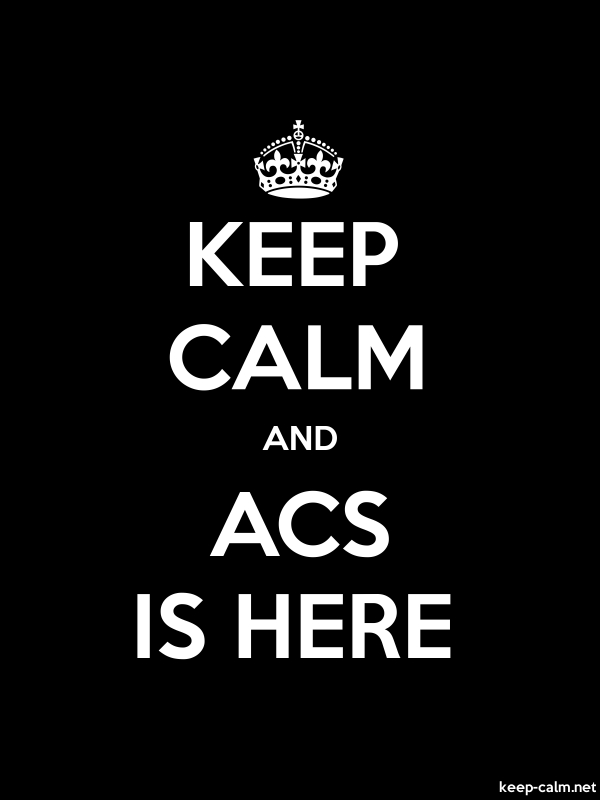 KEEP CALM AND ACS IS HERE - white/black - Default (600x800)