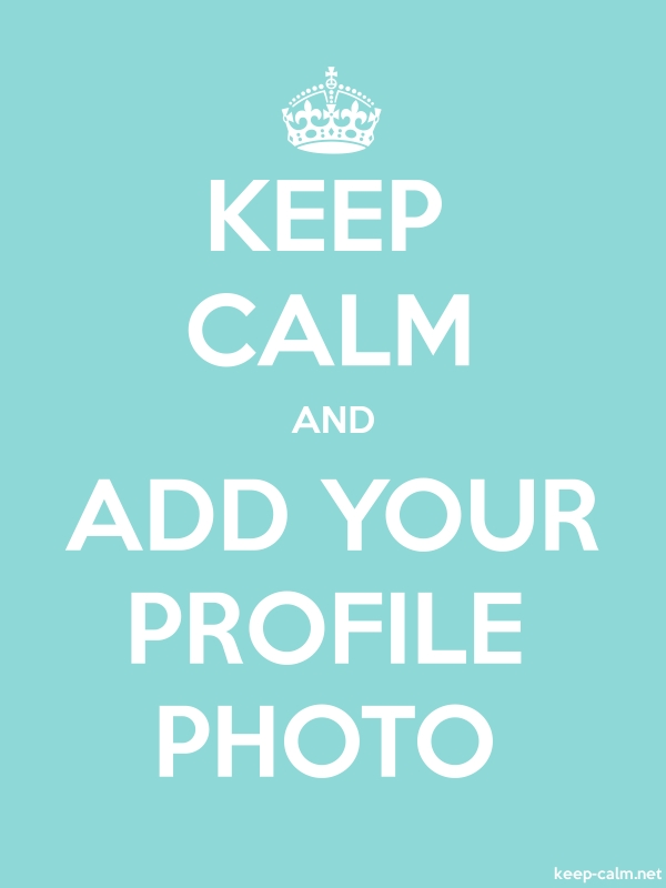 KEEP CALM AND ADD YOUR PROFILE PHOTO - white/lightblue - Default (600x800)