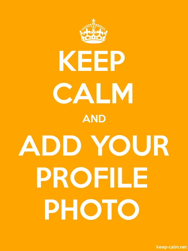 KEEP CALM AND ADD YOUR PROFILE PHOTO - white/orange - Default (600x800)
