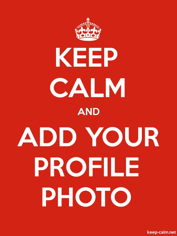 KEEP CALM AND ADD YOUR PROFILE PHOTO - white/red - Default (600x800)