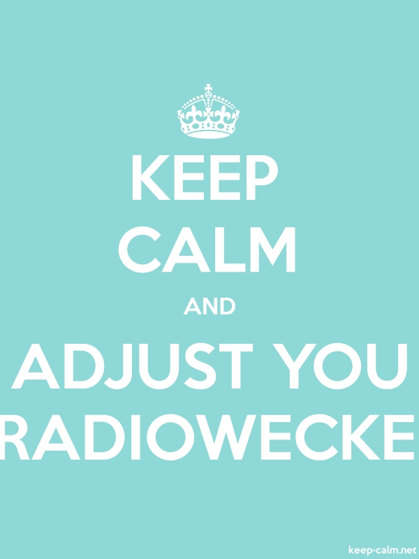 KEEP CALM AND ADJUST YOU RADIOWECKE - white/lightblue - Default (600x800)