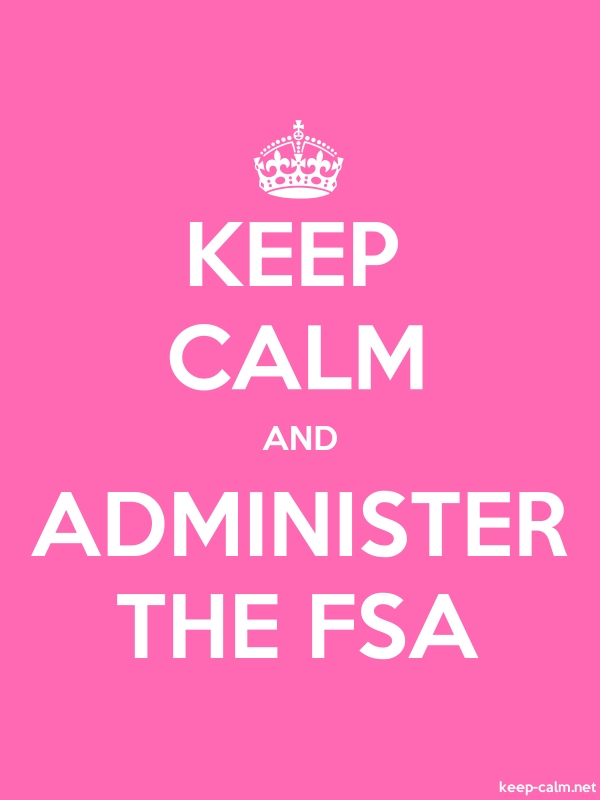 KEEP CALM AND ADMINISTER THE FSA - white/pink - Default (600x800)