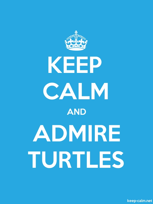 KEEP CALM AND ADMIRE TURTLES - white/blue - Default (600x800)