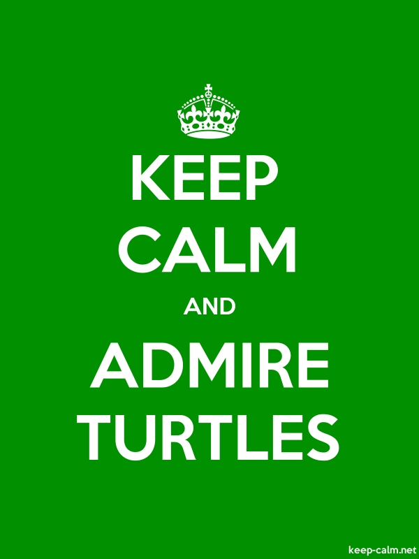 KEEP CALM AND ADMIRE TURTLES - white/green - Default (600x800)