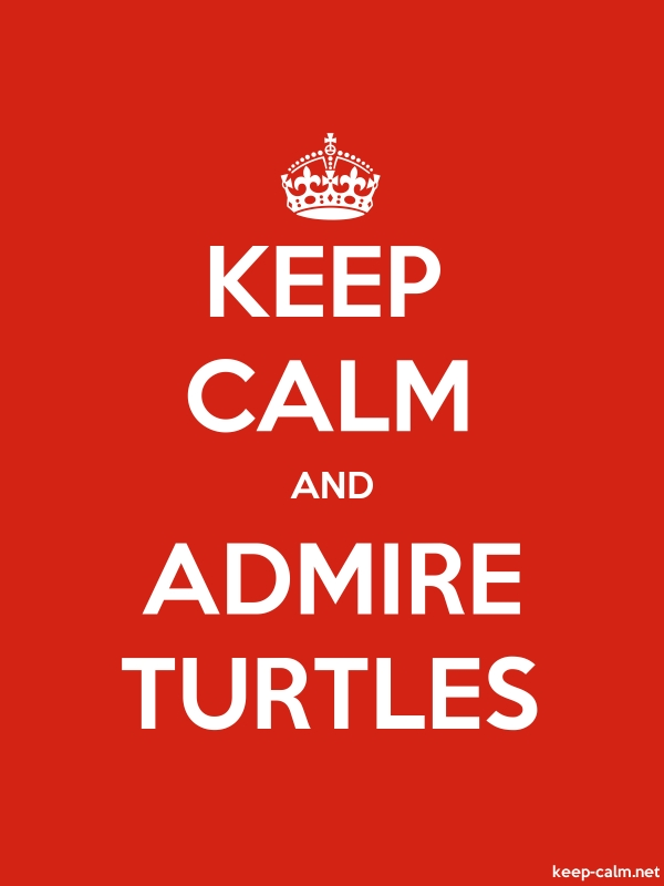 KEEP CALM AND ADMIRE TURTLES - white/red - Default (600x800)