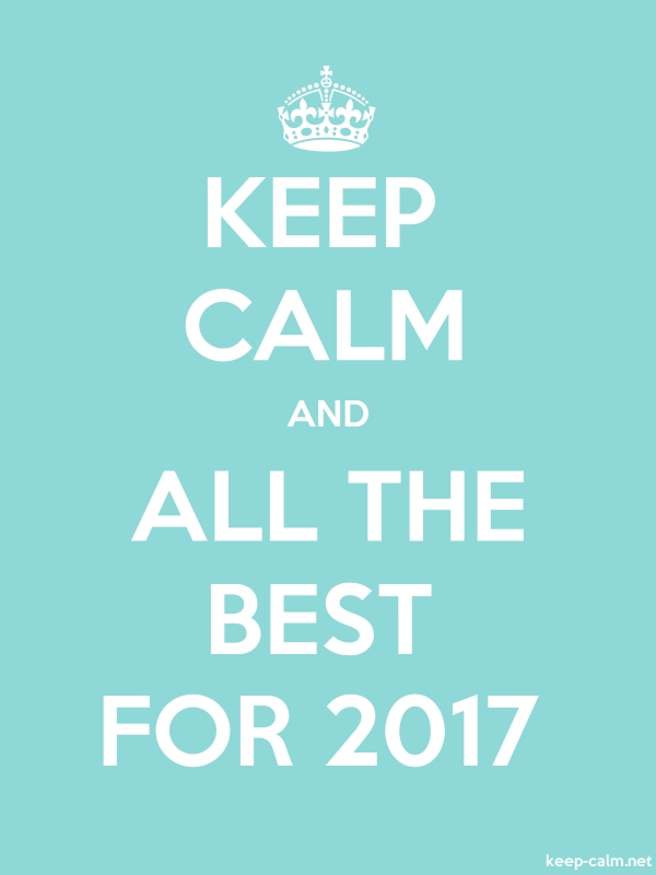 KEEP CALM AND ALL THE BEST FOR 2017 - white/lightblue - Default (600x800)