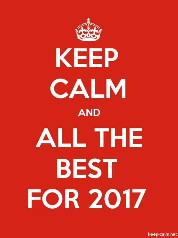 KEEP CALM AND ALL THE BEST FOR 2017 - white/red - Default (600x800)