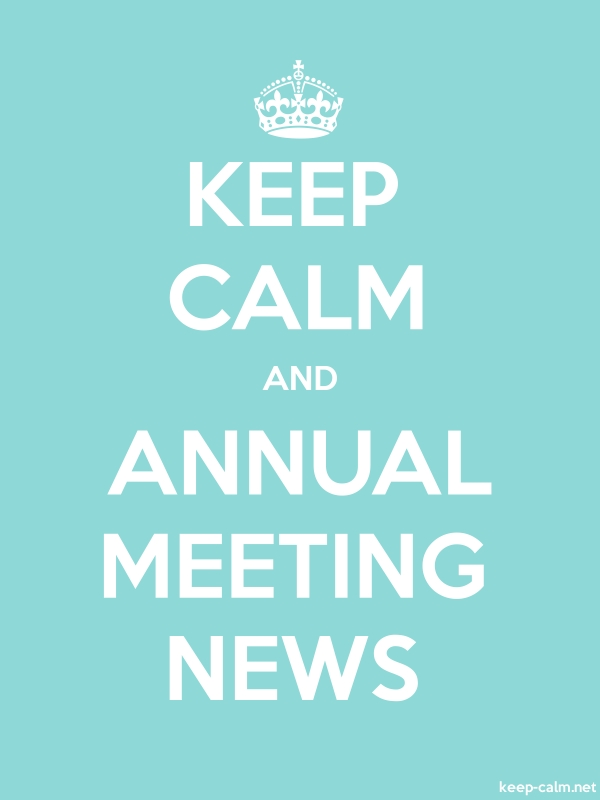 KEEP CALM AND ANNUAL MEETING NEWS - white/lightblue - Default (600x800)
