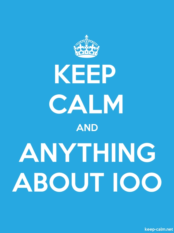 KEEP CALM AND ANYTHING ABOUT IOO - white/blue - Default (600x800)