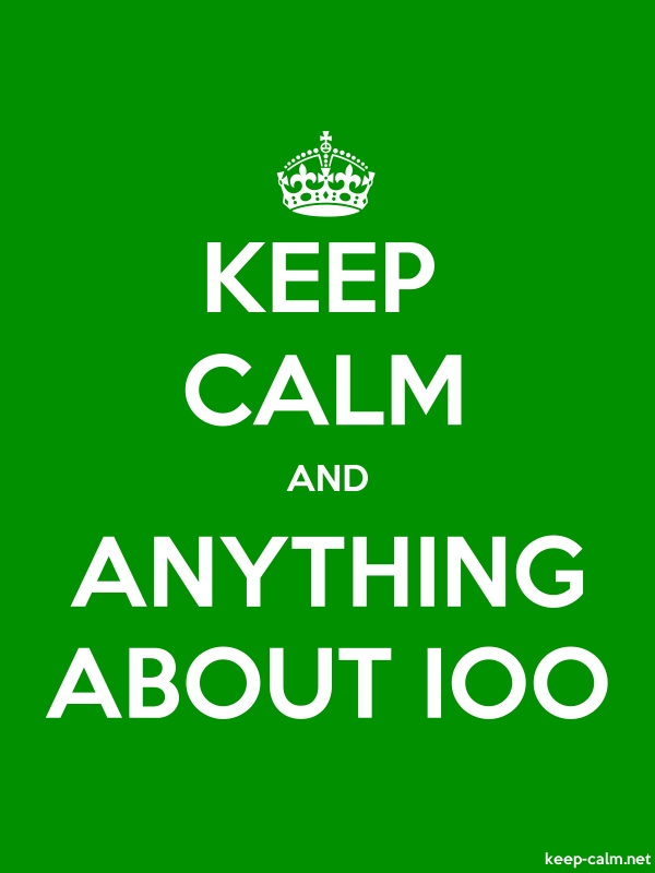 KEEP CALM AND ANYTHING ABOUT IOO - white/green - Default (600x800)