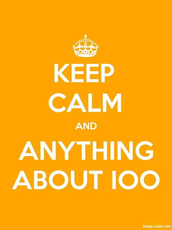 KEEP CALM AND ANYTHING ABOUT IOO - white/orange - Default (600x800)