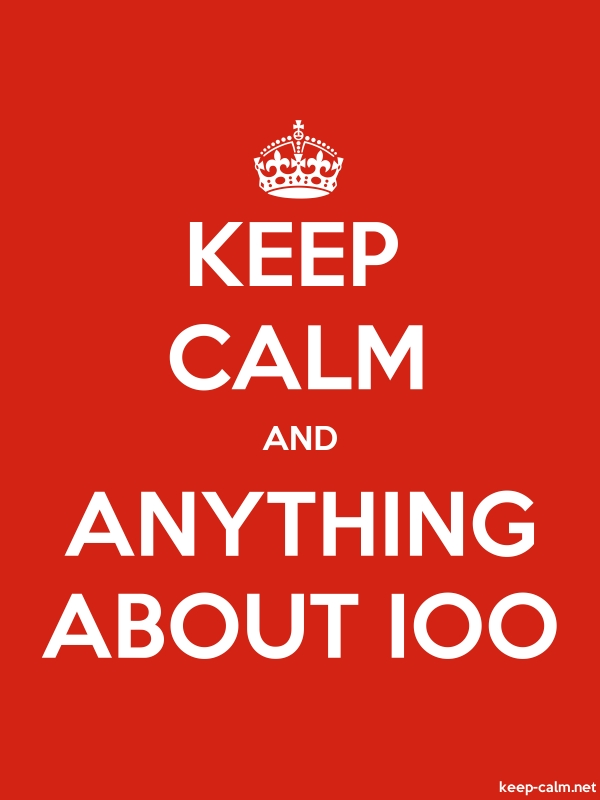 KEEP CALM AND ANYTHING ABOUT IOO - white/red - Default (600x800)