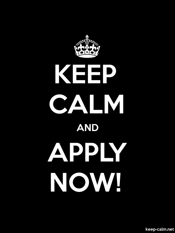 KEEP CALM AND APPLY NOW! - white/black - Default (600x800)