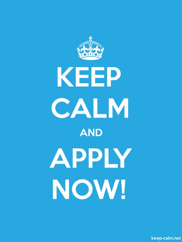 KEEP CALM AND APPLY NOW! - white/blue - Default (600x800)