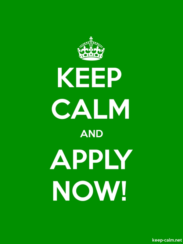 KEEP CALM AND APPLY NOW! - white/green - Default (600x800)