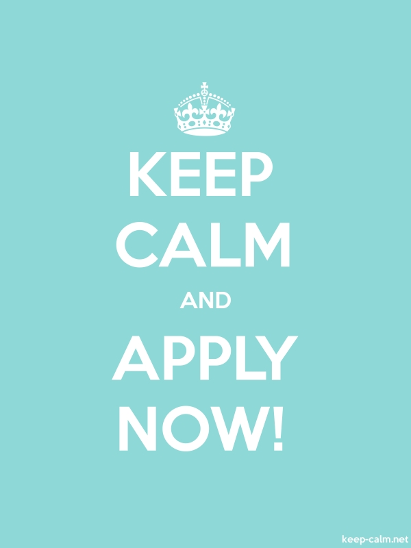 KEEP CALM AND APPLY NOW! - white/lightblue - Default (600x800)