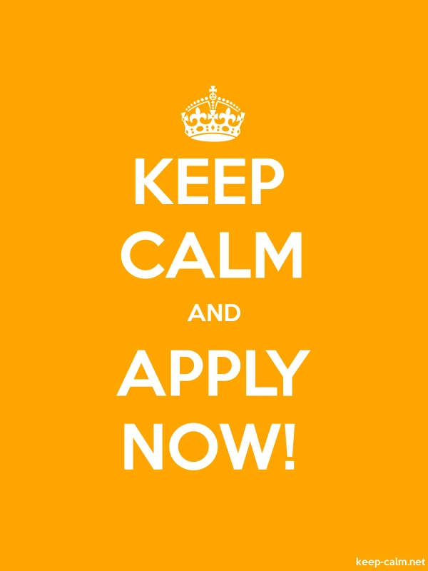 KEEP CALM AND APPLY NOW! - white/orange - Default (600x800)