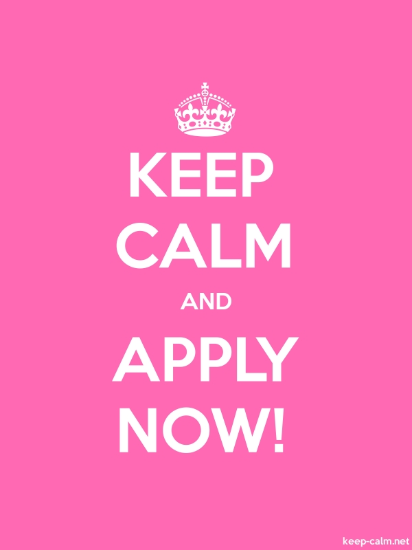 KEEP CALM AND APPLY NOW! - white/pink - Default (600x800)