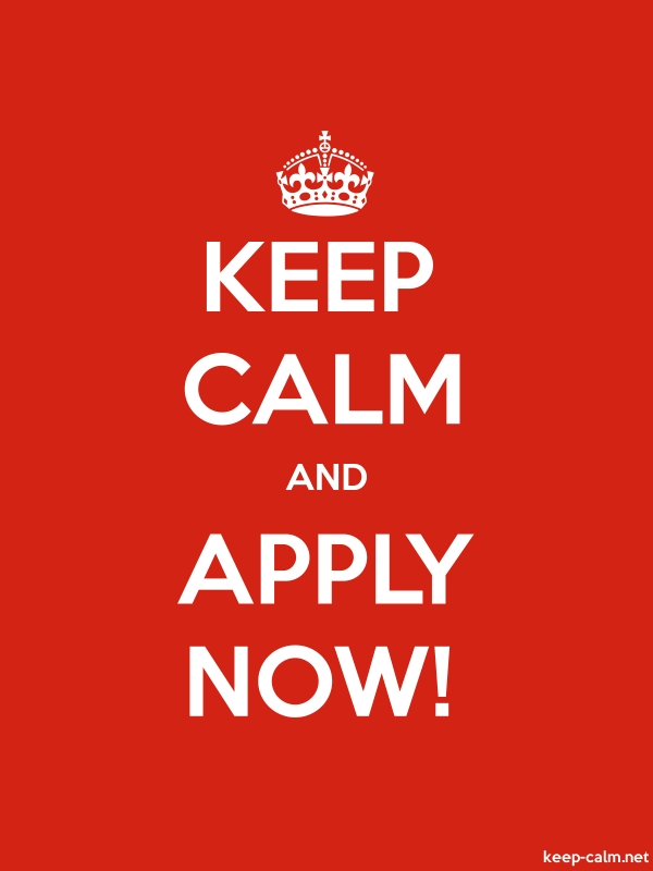 KEEP CALM AND APPLY NOW! - white/red - Default (600x800)