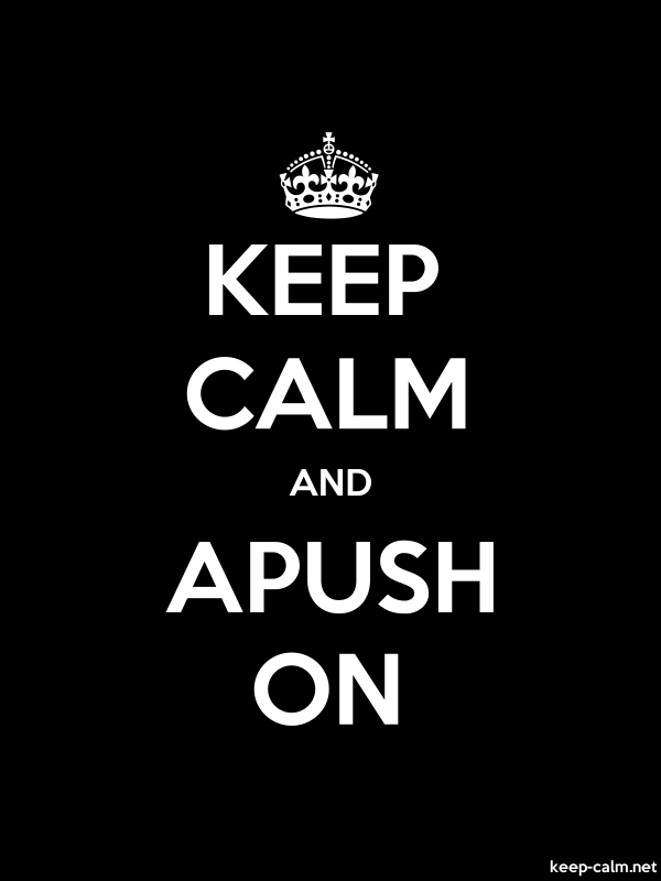 KEEP CALM AND APUSH ON - white/black - Default (600x800)