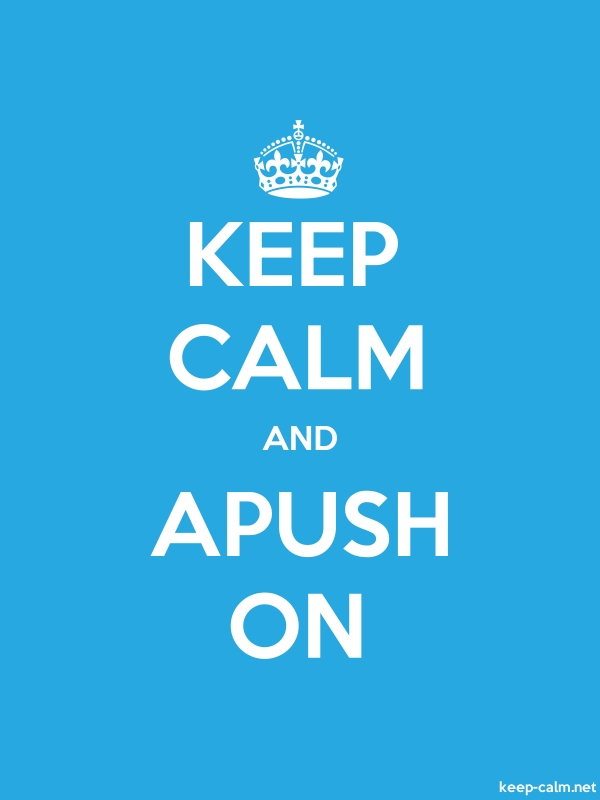 KEEP CALM AND APUSH ON - white/blue - Default (600x800)