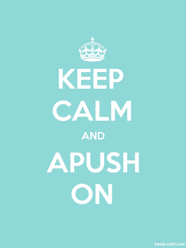 KEEP CALM AND APUSH ON - white/lightblue - Default (600x800)