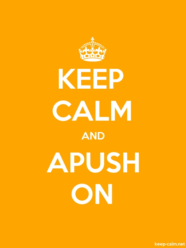 KEEP CALM AND APUSH ON - white/orange - Default (600x800)