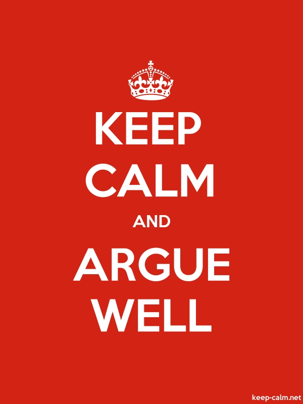 KEEP CALM AND ARGUE WELL - white/red - Default (600x800)