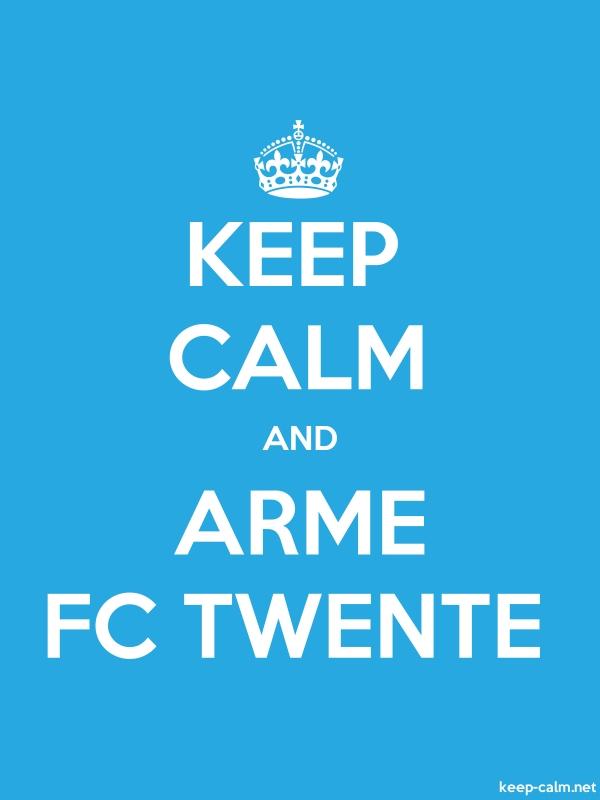 KEEP CALM AND ARME FC TWENTE - white/blue - Default (600x800)