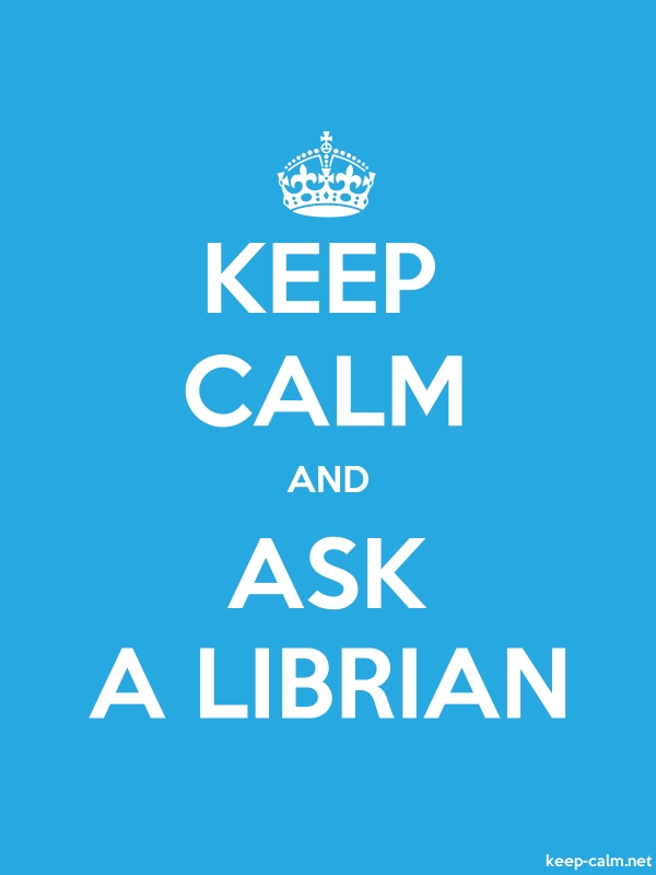 KEEP CALM AND ASK A LIBRIAN - white/blue - Default (600x800)