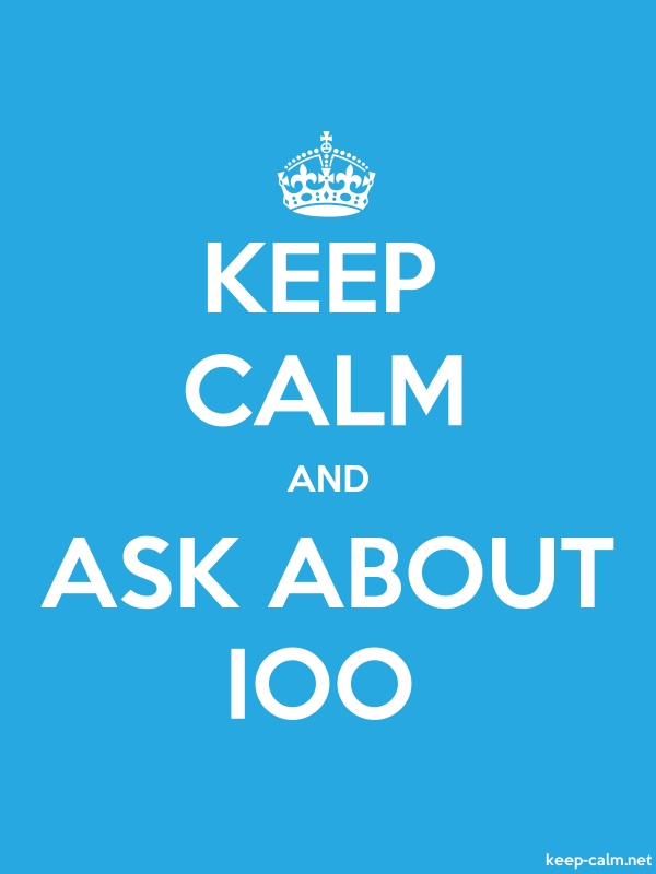KEEP CALM AND ASK ABOUT IOO - white/blue - Default (600x800)