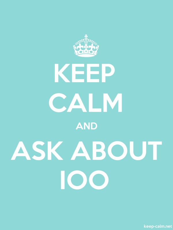 KEEP CALM AND ASK ABOUT IOO - white/lightblue - Default (600x800)