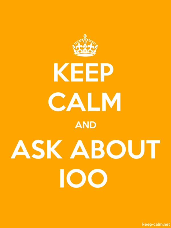 KEEP CALM AND ASK ABOUT IOO - white/orange - Default (600x800)