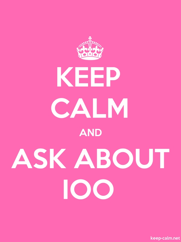 KEEP CALM AND ASK ABOUT IOO - white/pink - Default (600x800)