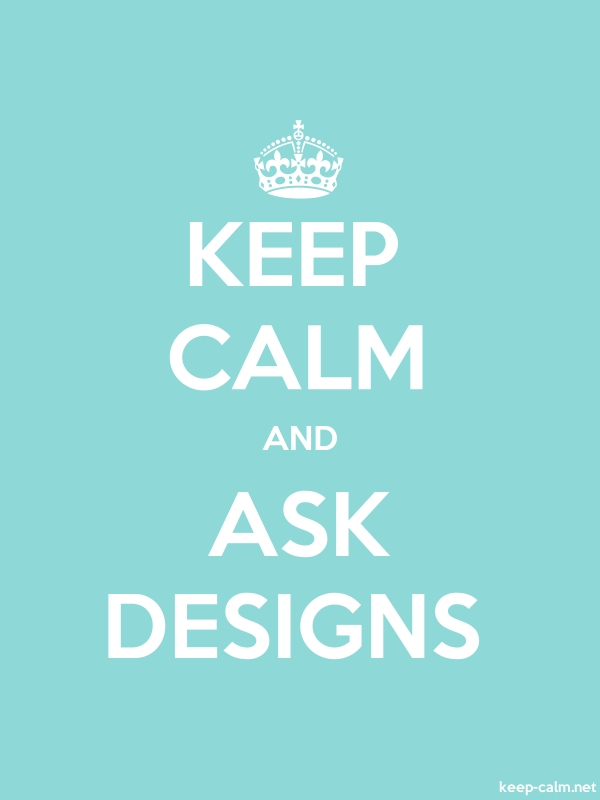 KEEP CALM AND ASK DESIGNS - white/lightblue - Default (600x800)