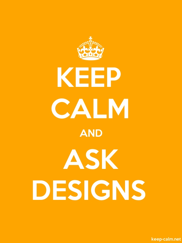 KEEP CALM AND ASK DESIGNS - white/orange - Default (600x800)