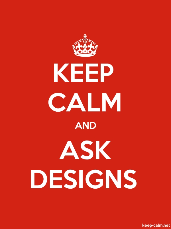 KEEP CALM AND ASK DESIGNS - white/red - Default (600x800)