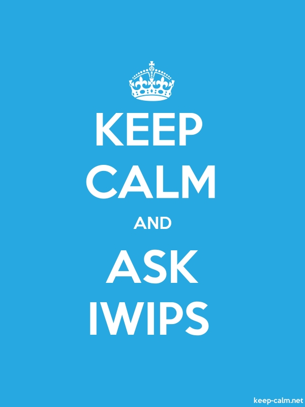 KEEP CALM AND ASK IWIPS - white/blue - Default (600x800)